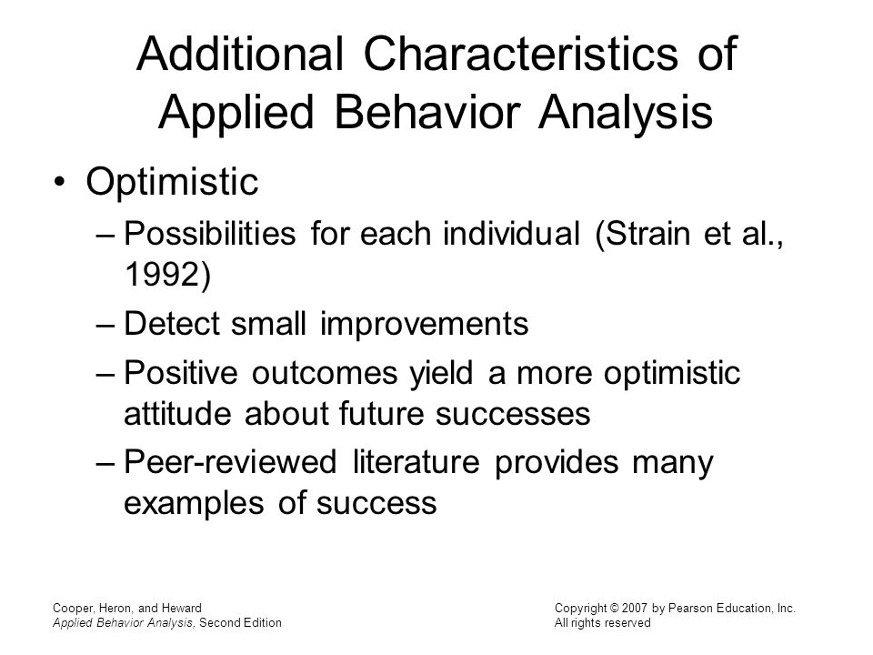 Chapter  Definition And Characteristics Of Applied Behavior