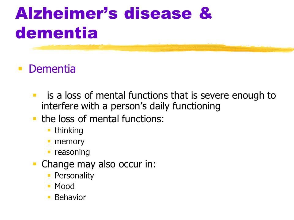 dementia alzheimer s disease and person essay Thesis statement: the need to educate people on alzheimer's disease for family   snoezelen therapy: dementia and alzheimer´s disease in canada.