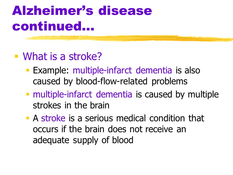 a report on alzheimers disease a serious brain condition Alzheimer's disease is a degenerative disorder of the brain and one of several  conditions that cause dementia, a progressive decline of mental functions.