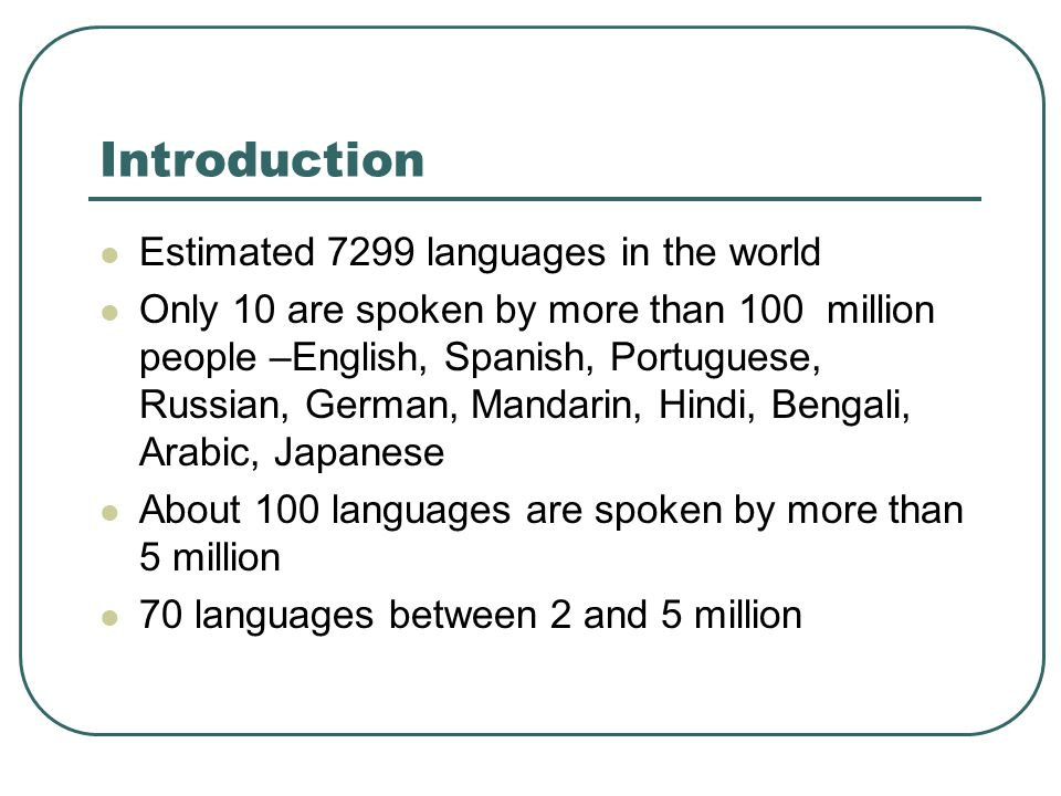 Language Chapter Ppt Download - 5 main languages of the world