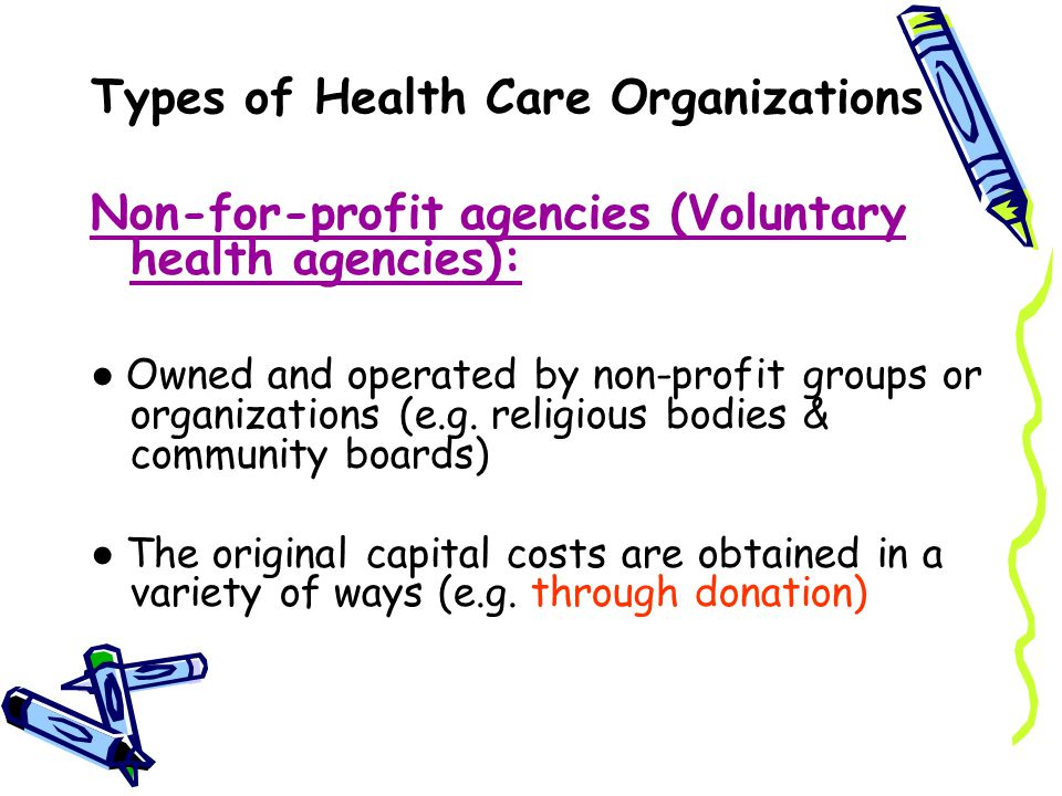 types of health care organizations   ppt download