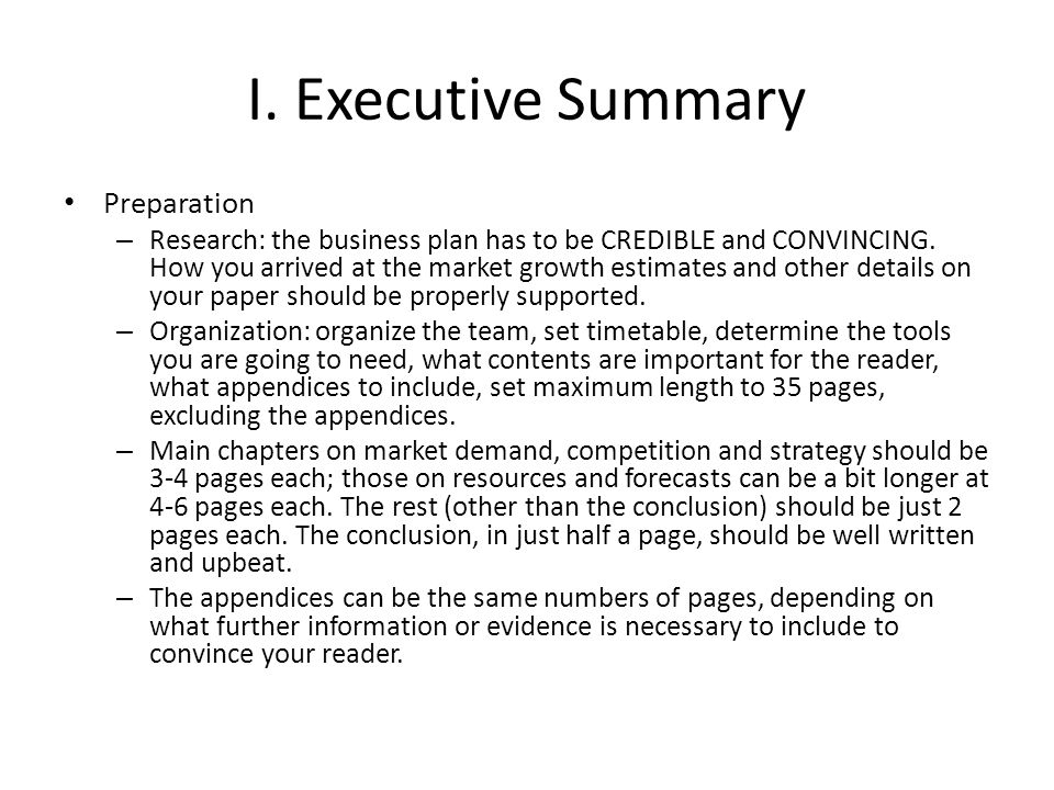 executive summary business plan executive summary template for
