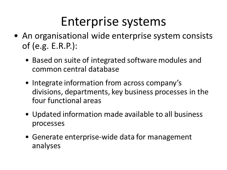 enterprise wide systems and supply chain management Rather than confine erp system capabilities within the organization, it goes beyond the corporate walls to interact with other systems enterprise application suite is an alternate name for such systems erp ii systems are typically used to enable collaborative initiatives such as supply chain management (scm), customer.