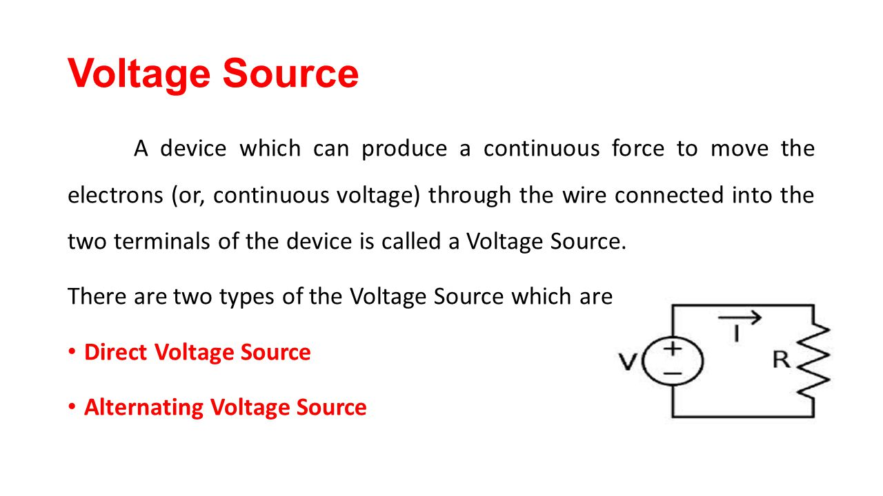 Electrical engineering science ppt video online download voltage source biocorpaavc Images
