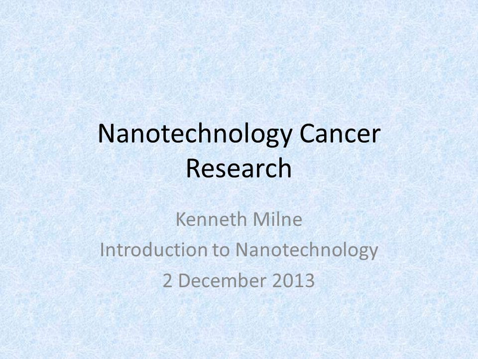 Research on Nanomaterials