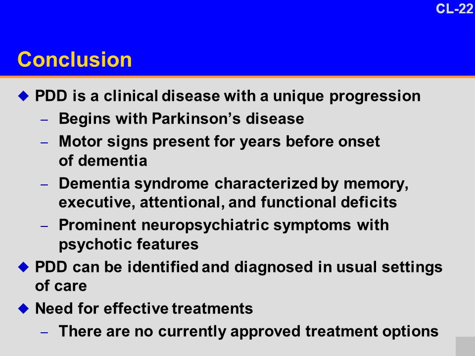 Parkinson S Disease Dementia Pdd A Clinical Perspective