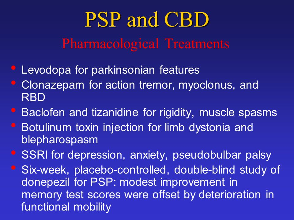Pharmacological Treatments