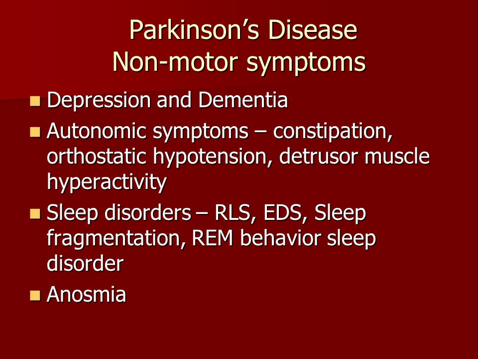 Initial Diagnosis And Management Of Parkinson S Disease