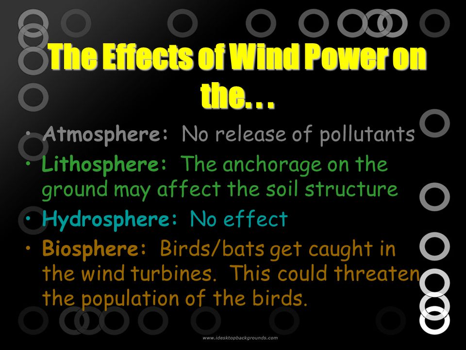 The Effects of Wind Power on the. . .