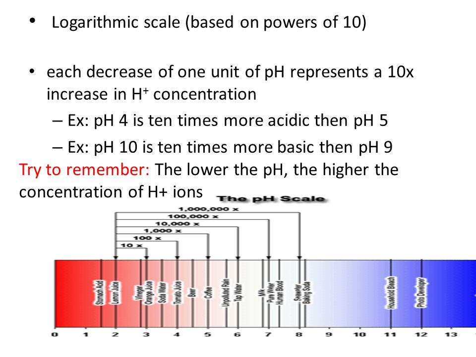 increased hydrogen ions and ph relationship