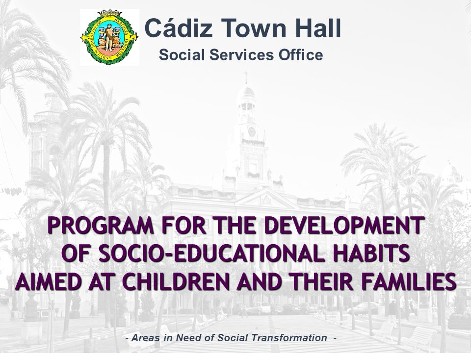 - Areas in Need of Social Transformation -