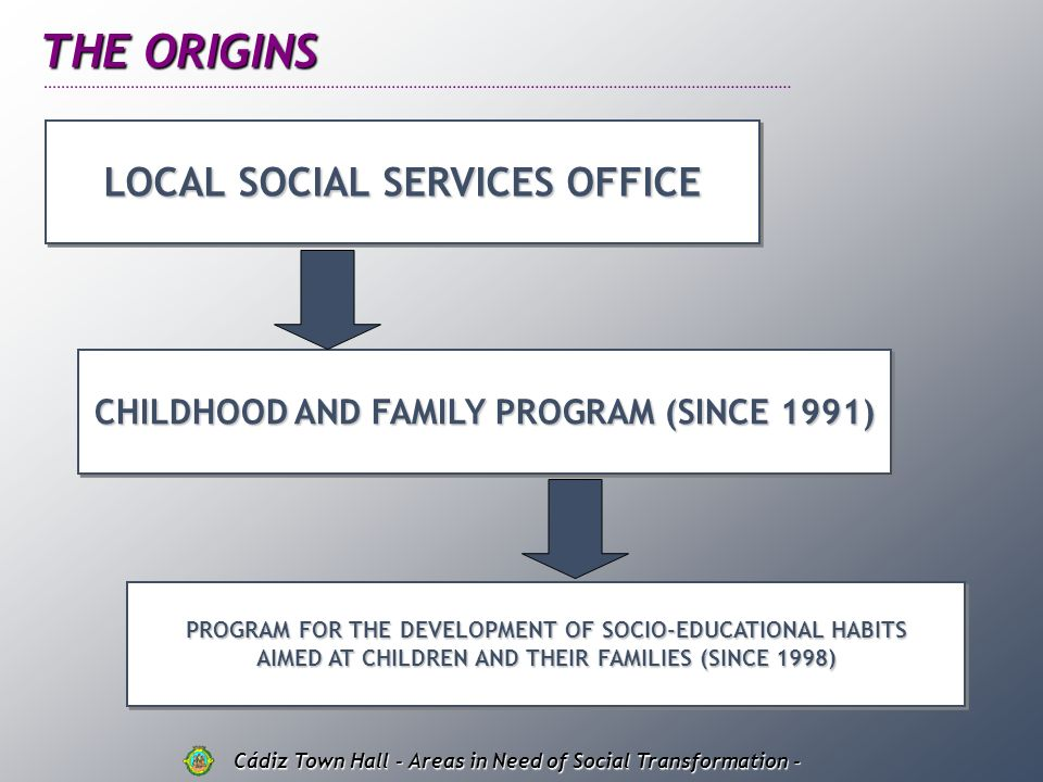 THE ORIGINS LOCAL SOCIAL SERVICES OFFICE