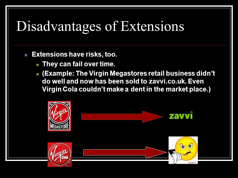 product extension disadvantages Overview new product & brand extension brand extension types of brand extension advantages disadvantages how consumers evaluate extensions.