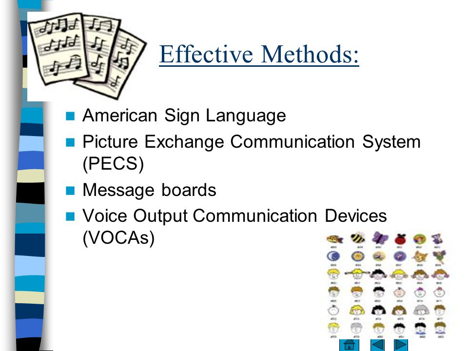 effective teaching methods speech We advocate for all individuals with down syndrome on medical, educational and  legal issues  effective leadership from a head teacher who is committed to  meeting the needs of all  o a speech therapist can design a speech  remediation component to the iep  use teaching methods that involve cues  and objects.