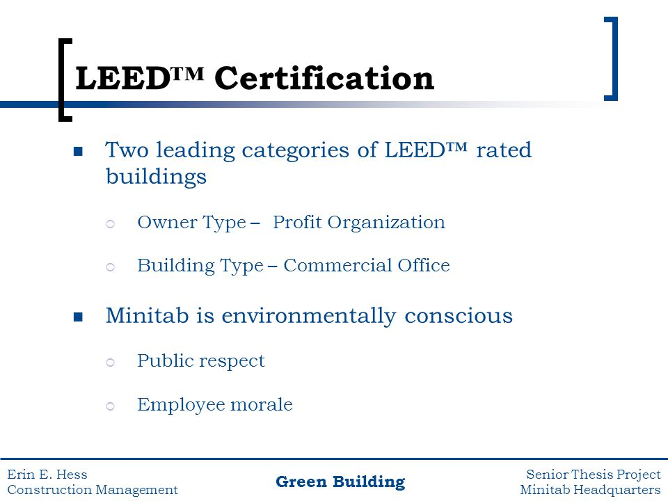 Construction management ppt video online download for Benefits of leed certification