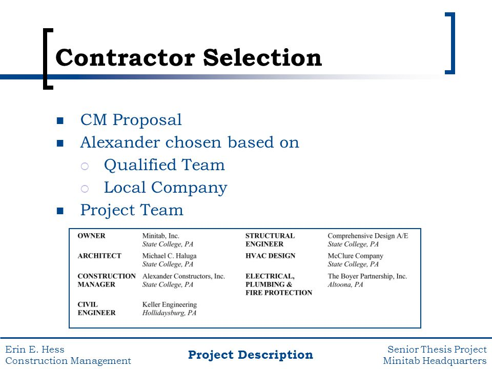 construction management thesis proposal