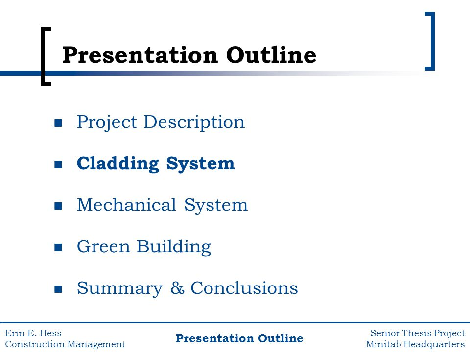 project description master thesis outline