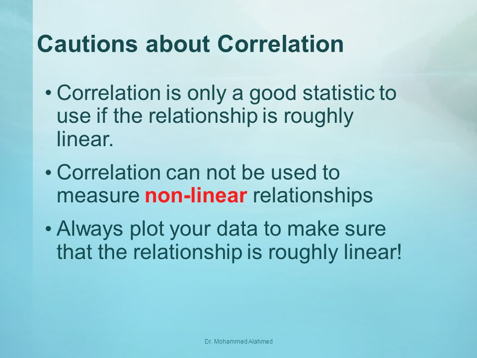 Cautions about Correlation