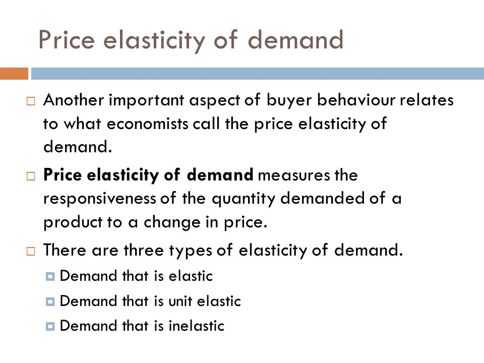 importance of price elasticity of demand