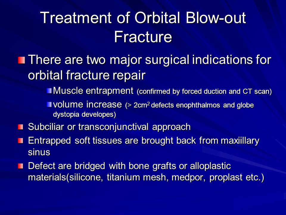 Orbital Floor Blowout Fracture Dr Mahmood Fauzi Assist
