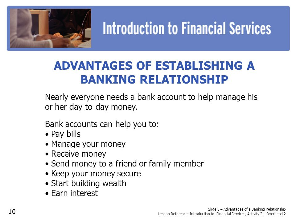 the relationship bank account activity