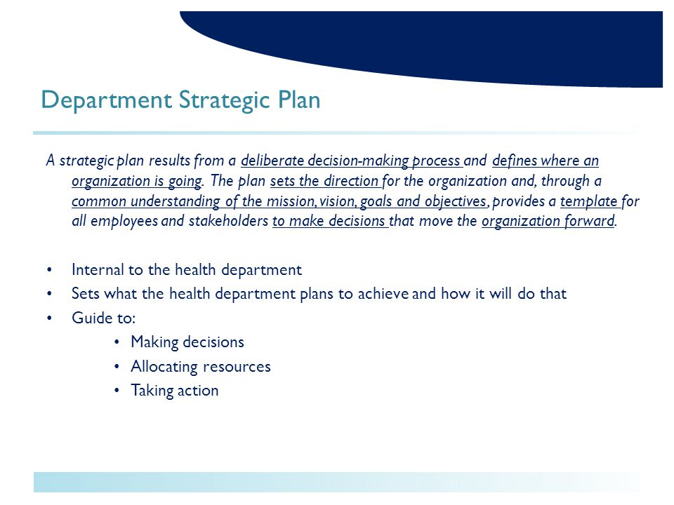 Health Assessment Improvement Planning And Strategic Planning Ppt - Department business plan template