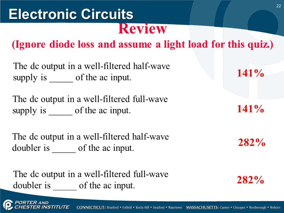 (Ignore diode loss and assume a light load for this quiz.)