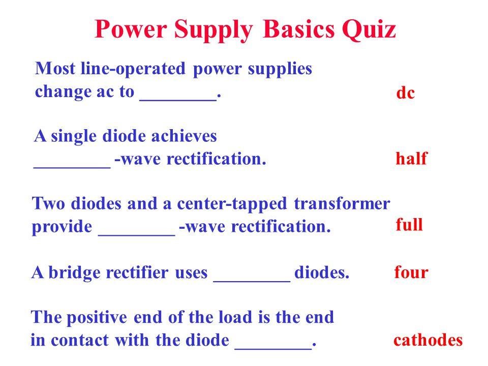 Power Supply Basics Quiz