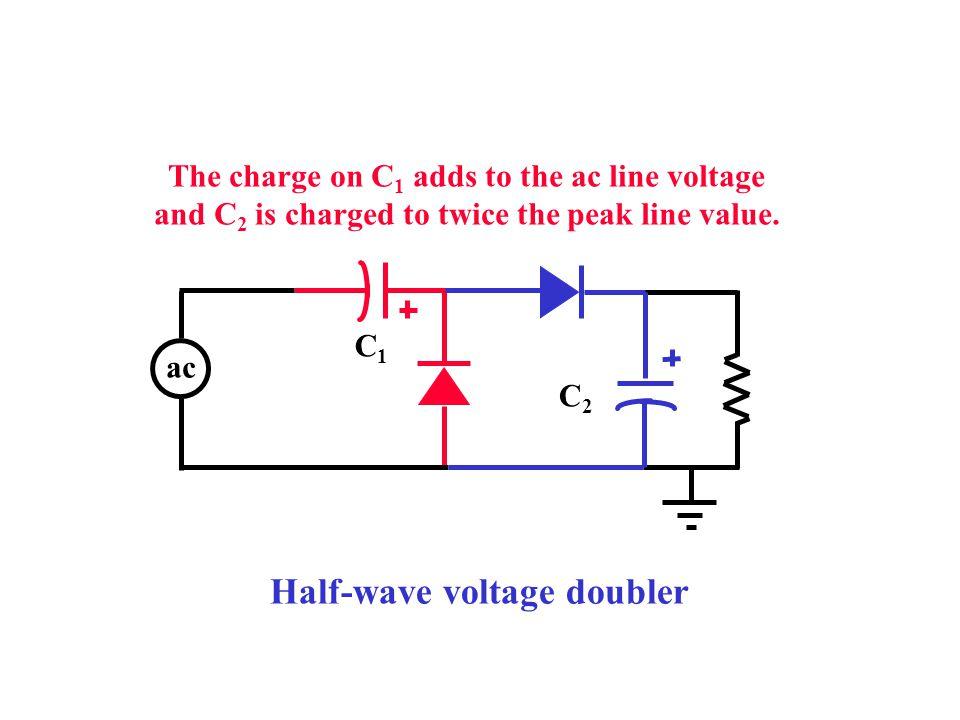 Half-wave voltage doubler