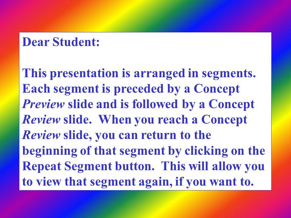 Dear Student: