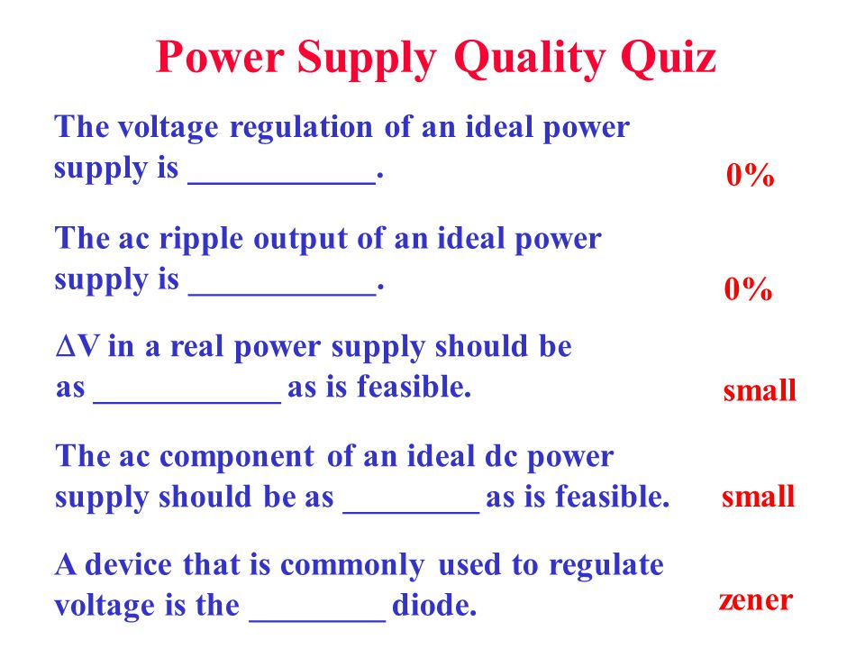 Power Supply Quality Quiz