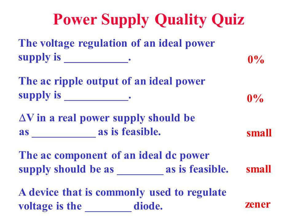 Power Supply Quality Quiz
