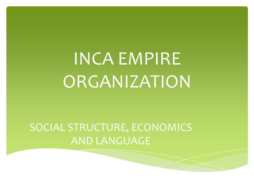 inca social structure in english - photo #28