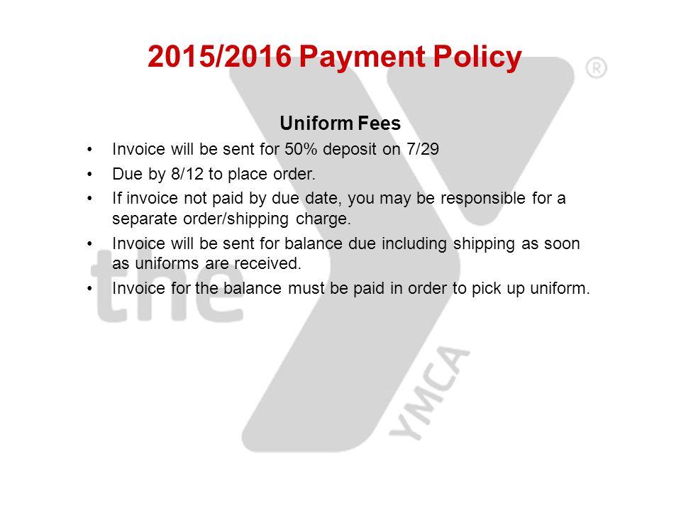 Uniform dating fees