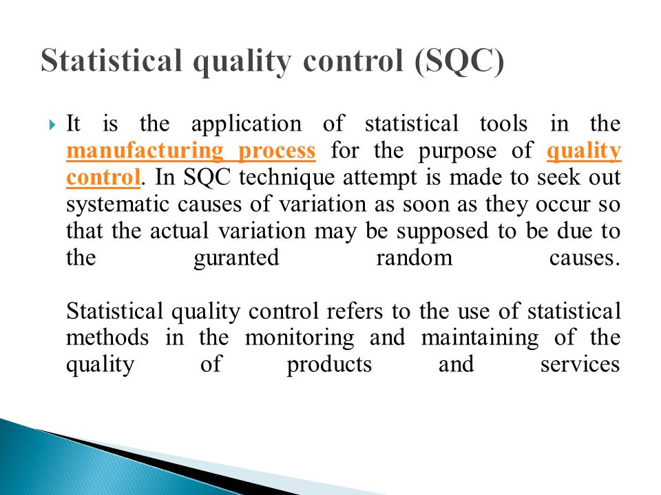 sqc statistical quality control Statistical quality control using excel [steven m zimmerman, marjorie l icenogle] on amazoncom free shipping on qualifying offers.