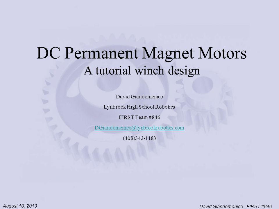 Dc permanent magnet motors a tutorial winch design ppt download dc permanent magnet motors a tutorial winch design sciox Gallery