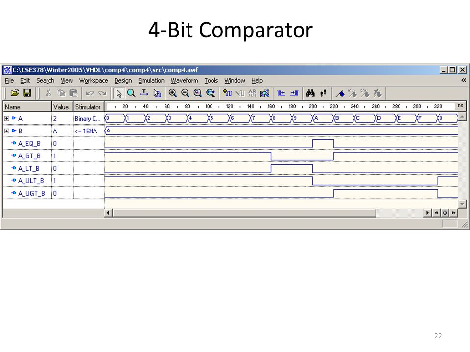 Vhdl examples subra ganesan reference professor haskell s for 1 bit comparator truth table