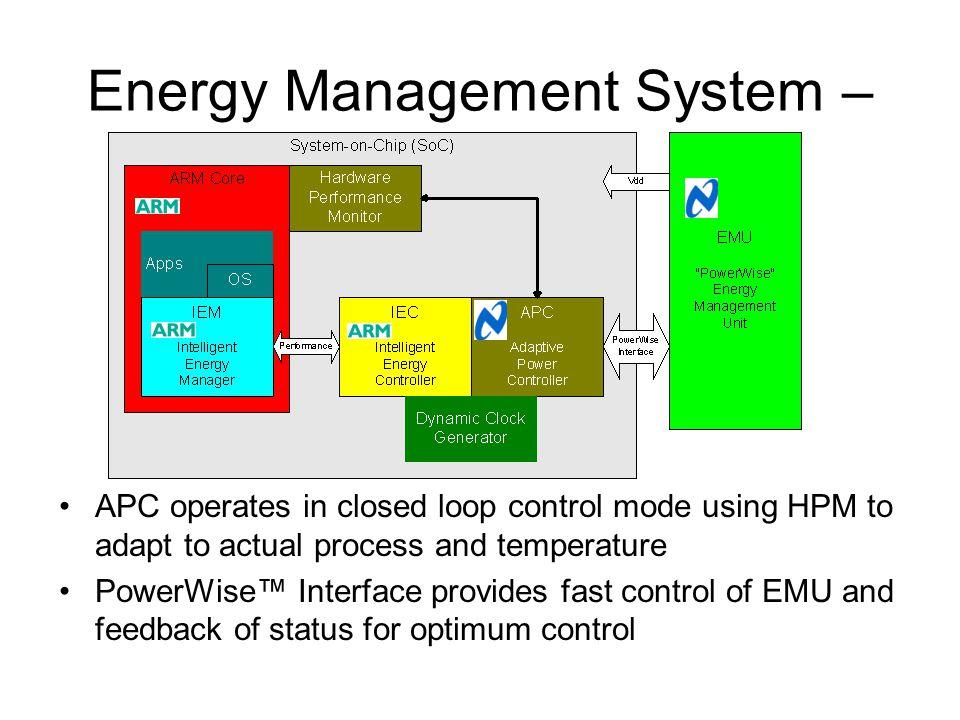 Energy Control System : Various low power soc design techniques ppt download