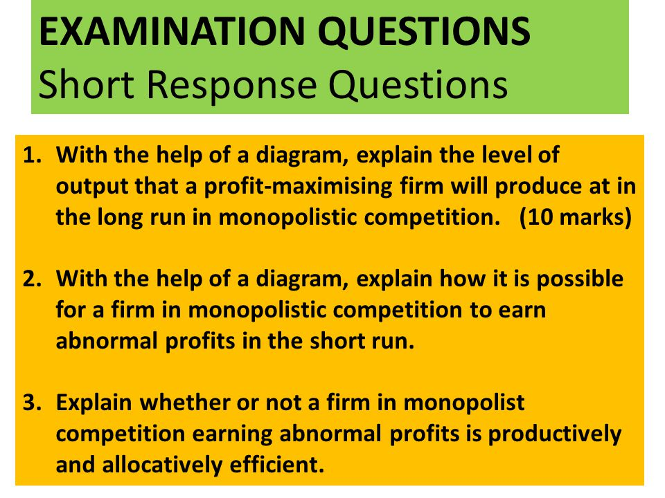 Monopolistic competition ppt download 27 examination questions short response questions ccuart Image collections