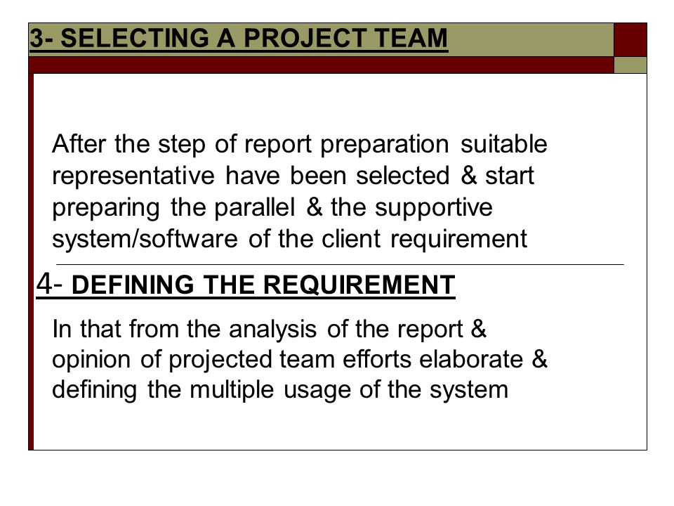 selecting your project team Expert judgment will come from your project team members who are familiar with the work that has to be done  and mutually selecting a solution.