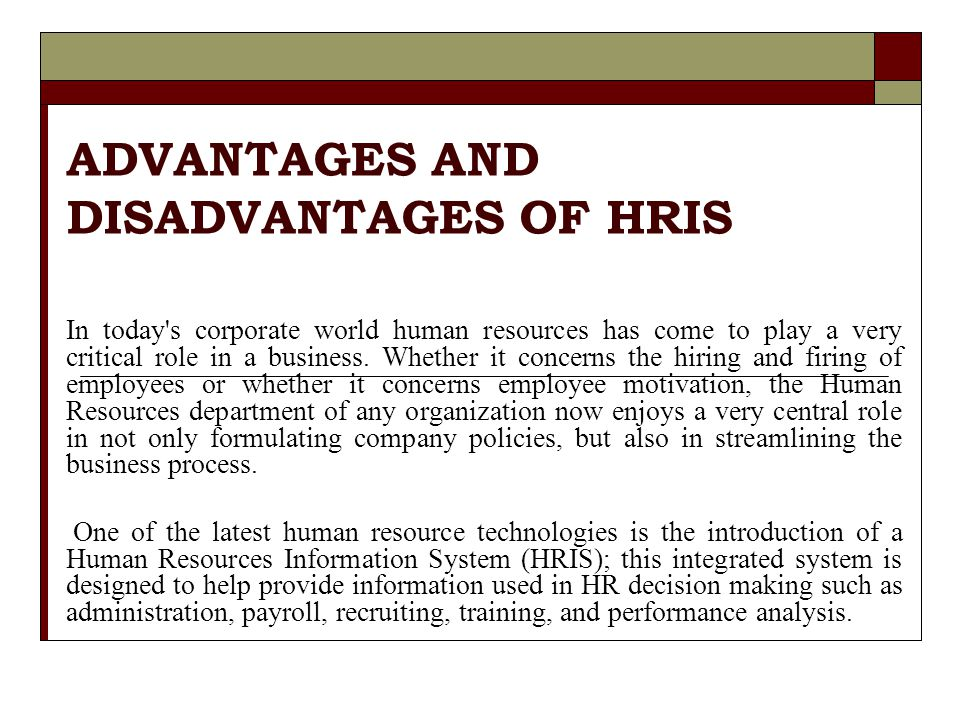 Advantages & Disadvantages of Not Having Human Resources