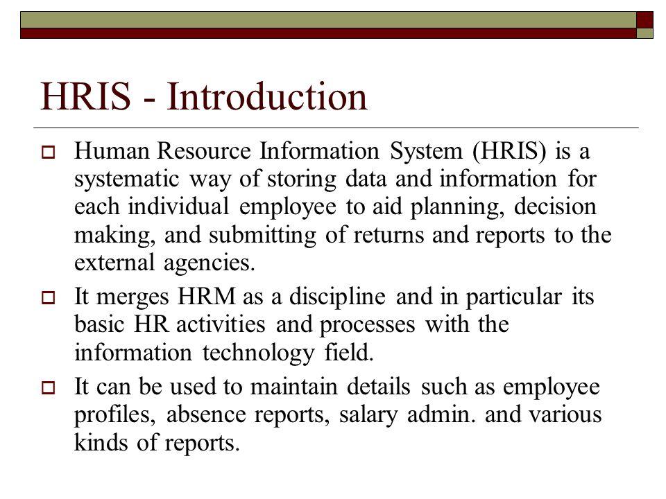 hris introduction - Lawson Hris System