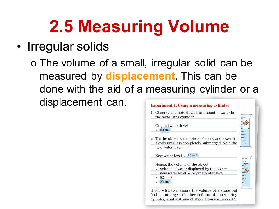 how to find the volume of an irregular solid