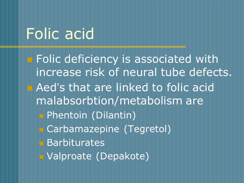 Carbamazepine Pregnancy Folic Acid