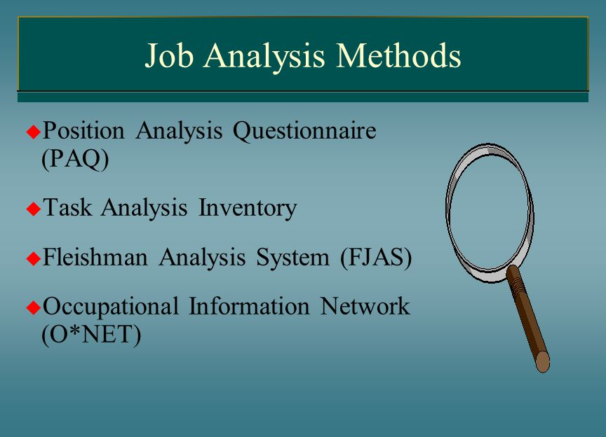 occupational analysis inventory Survey (harrington & o'shea, 1993) and career assessment inventory  the  empirical method uses occupational analysis data to assign riasec codes to a.