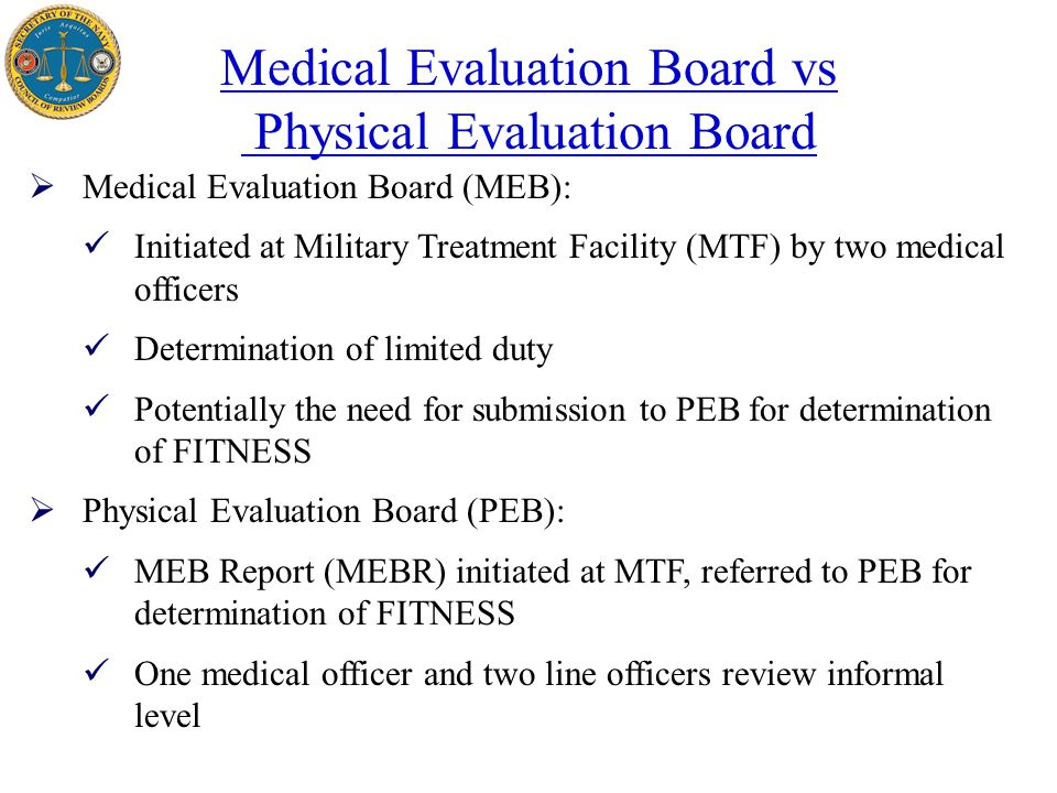 Secretary Of The Navy Physical Evaluation Board (Peb) - Ppt Video