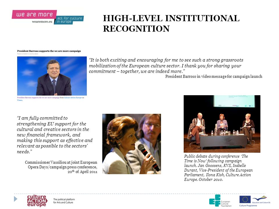 HIGH-LEVEL INSTITUTIONAL RECOGNITION