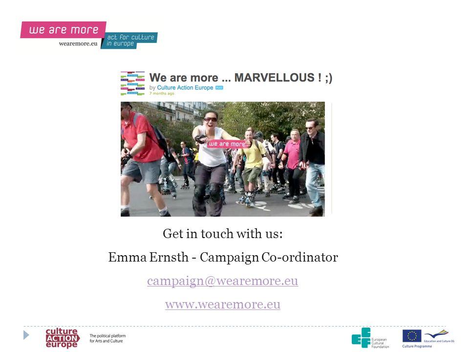 Emma Ernsth - Campaign Co-ordinator