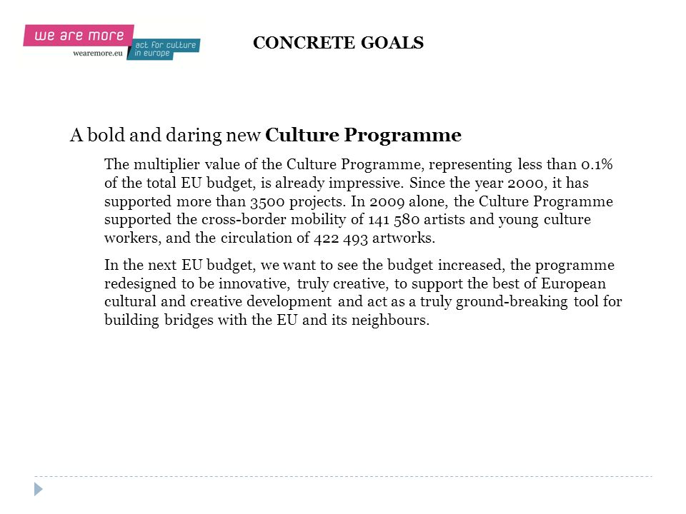 A bold and daring new Culture Programme