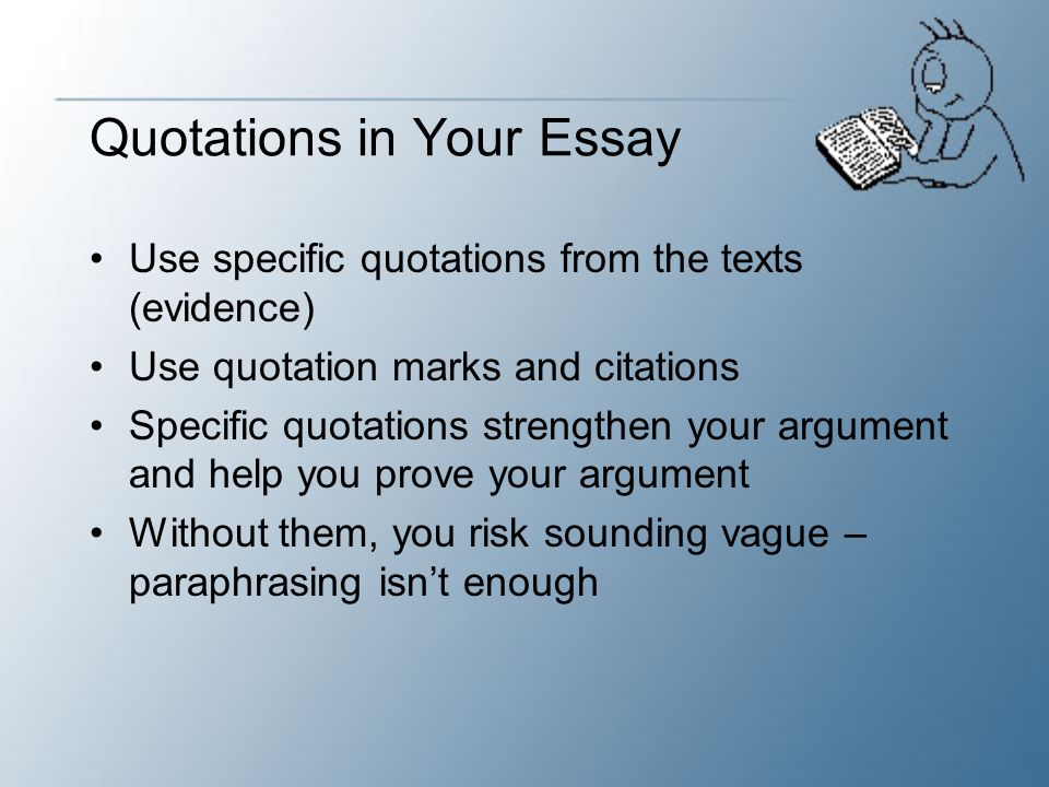 Quotations in Your Essay